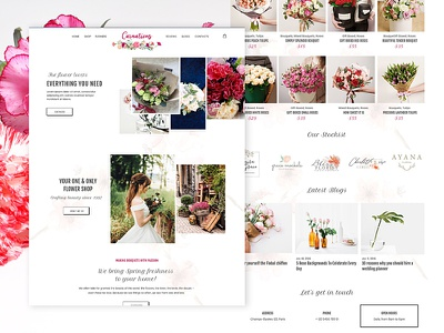 Carnations flowers nature carnation florist ecommerce design photoshop web design ui