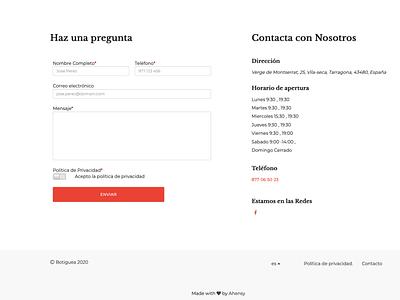 Contacta con el Comercio uxdesign ahensycom web development