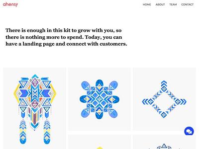 minimal portfolio uxdesign ahensycom