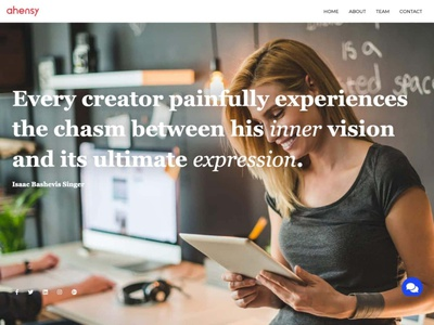 personal page ahensycom uxdesign