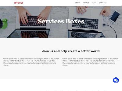 services boxes ahensycom uxdesign