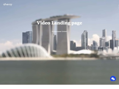 video landing page ahensycom uxdesign