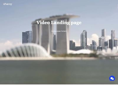 video landing page ahensycom uxdesign
