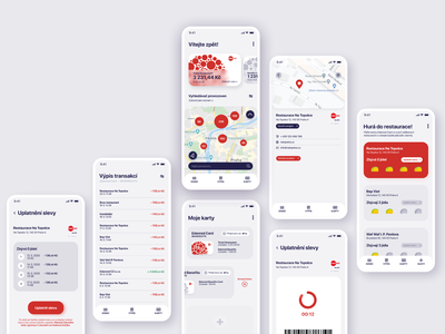 App concept for Edenred Card flatdesign benefits card ux ui app