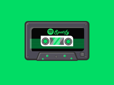 Spotify flat animation web app icon vector design logo