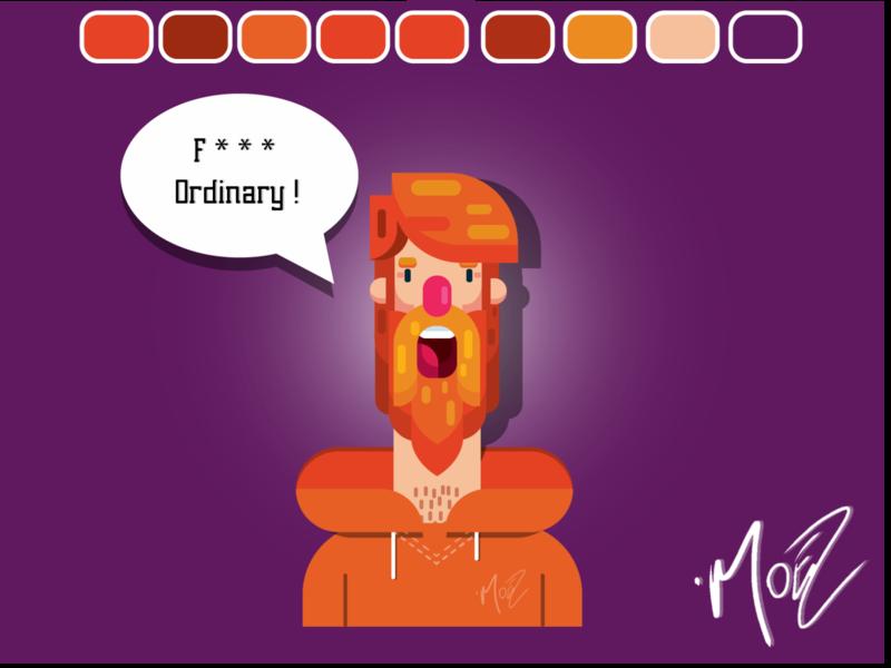 Fuck Ordinary flat web animation app ui ux typography forest knight branding pakistan moez mustafa aseprite islamabad