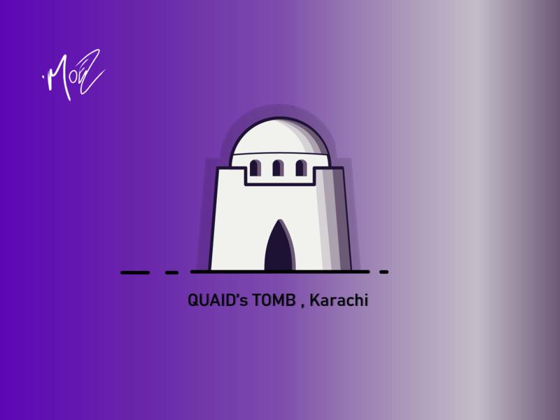Jinnah Mausoleum, Karachi single minimal animation flat web ux app ui pakistan islamabad illustration moez mustafa