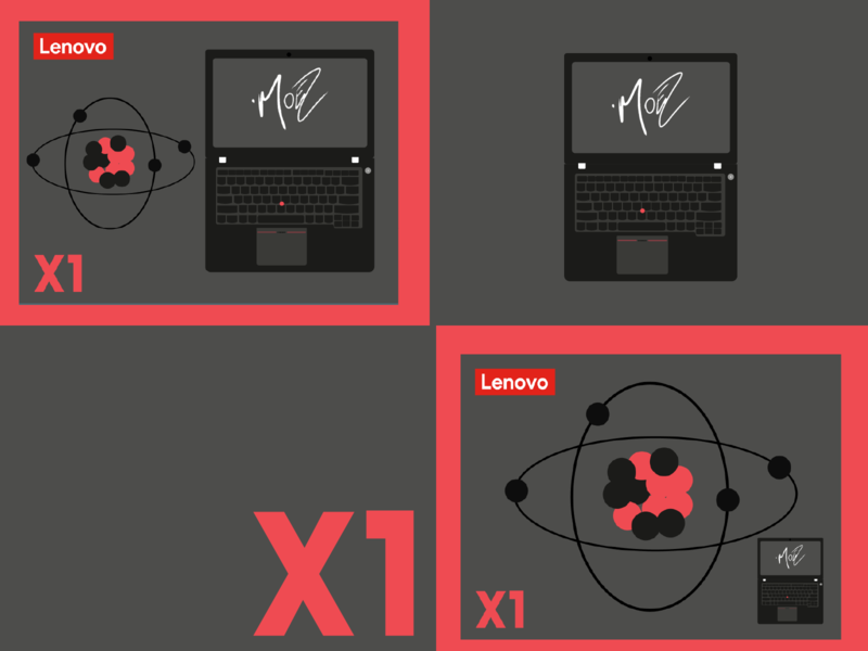 Lenovo X1 carbon redesign-tuesday mkbhd matte macbook laptop redeem redesigned carbon x1 mminimal redesign flat web app ux ui moez mustafa illustration branding
