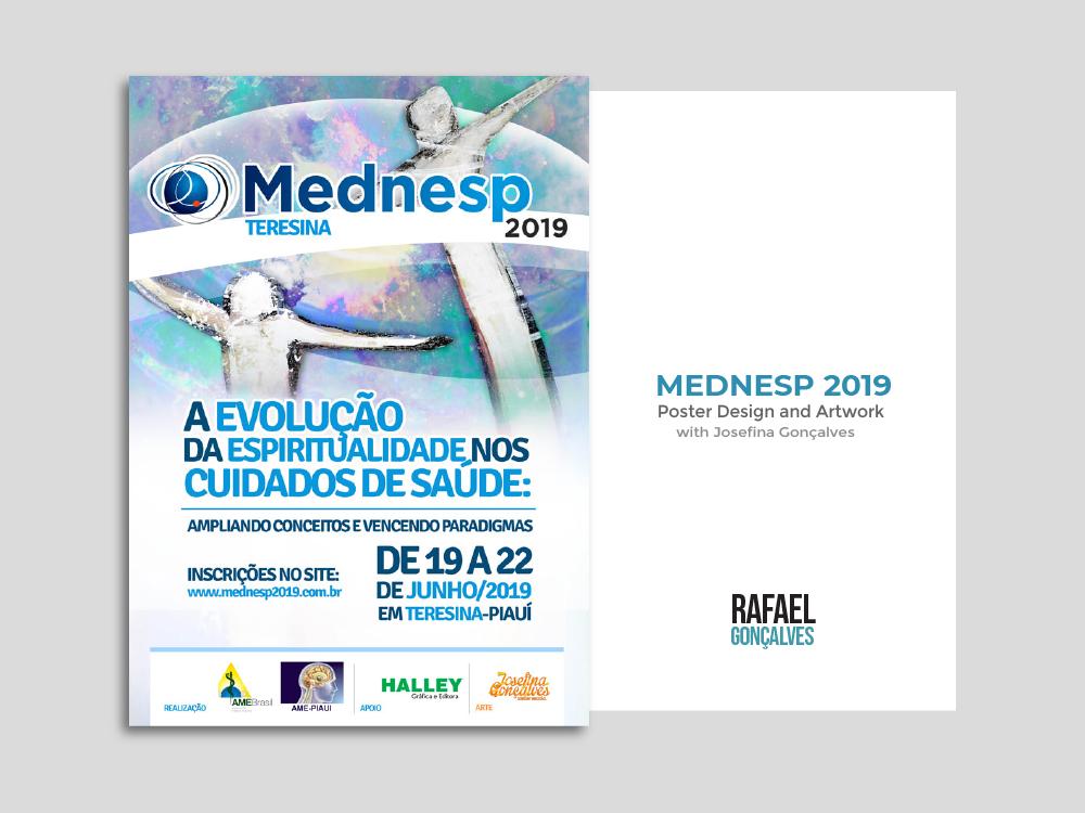 Mednesp 2019 - Poster Design digitalart illustrator acrylic paint collage collaboration poster