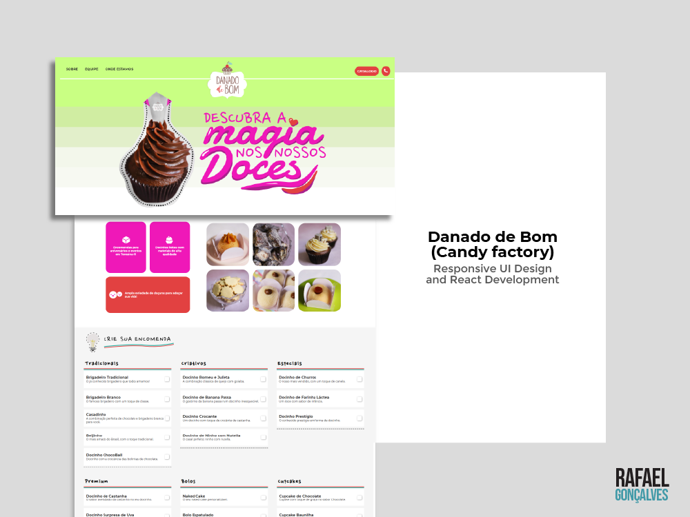 Danado de Bom (Candy Factory) development responsive web design digitalart react uiux website