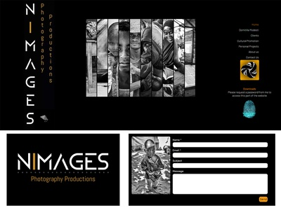 Website/Logo - Nimages Photography Productions black and white photography website concept design nigeria website design logo logo design web design website