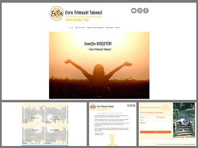 Website - Life Coach/Yoga Esra Yılmazel Tekneci turkey life coach yoga website design web design website concept design website