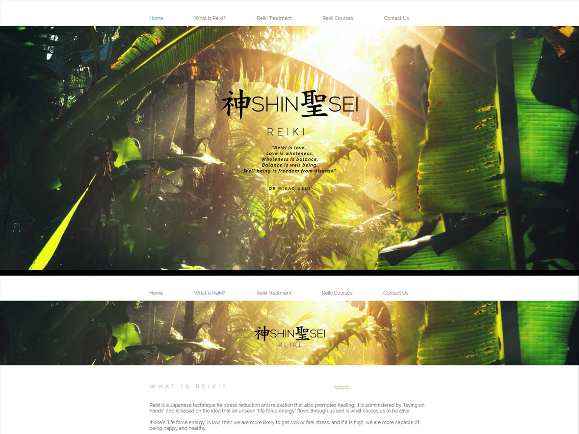 Website/Logo - Shinsei Reiki. logo photography turkey nigeria logo design design website design website concept website web design reiki