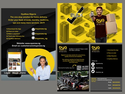 Social Media/App - Oyanow Nigeria Delivery Services flyer design ads design design photoshop ads app social media