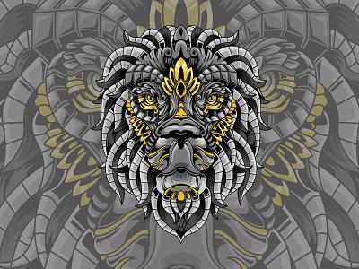 Mythical Lion animal head lion head lion king animal kingdom lion drawing mythical creature mythical mythical creature. beast dribbble vector sacredgeometry design illustration animal illustration