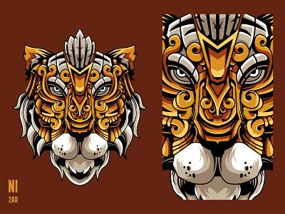 Mythical Tiger best design best shot featured debut debuts tiger head animal head design illustration shot new shot tigers tiger mythical dribbble animal illustration