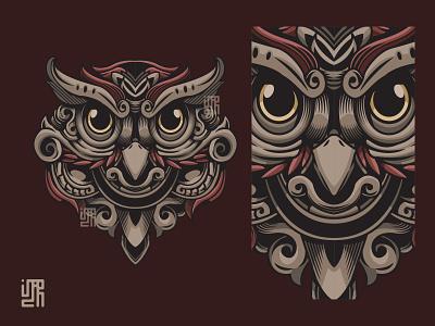 Mythical Owl V2 owly bird owl logo dribbble new shot mythical creature sacredgeometry animal head mythical illustration design animal illustration