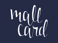 mall card lettering