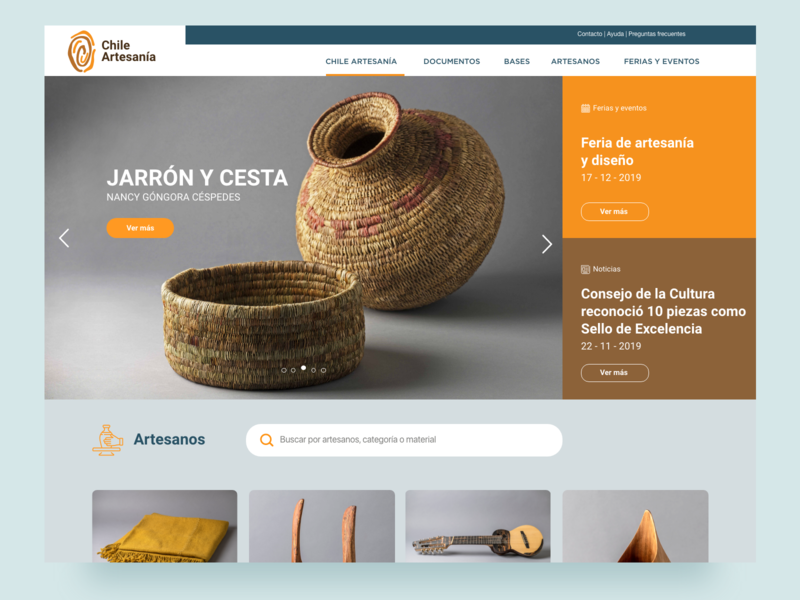 Website Chile Artesanía website diseño artesan web ui ux