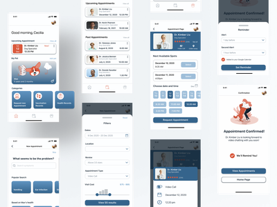 Veterinary App productdesign branding mobiledesign petapp ios app ui ux design