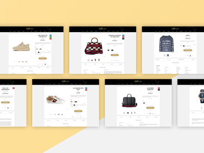 LUXclass // E-commerce // Product page product page product ux design uxdesign ui design ux ux ui ui webstore web shop webshop web luxury fashion ecommerce design ecommerce luxury