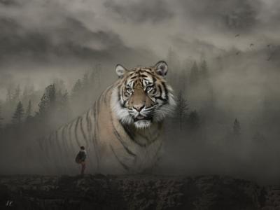 Photo Manipulation // Tiger