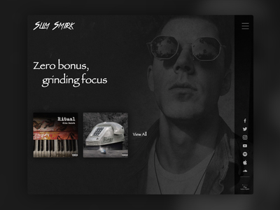 Web Design & Web Development // Slim Smirk music artist branding ux design ui design artist website music website artist web design website ux uiux ui logotype brand identity brand design brand
