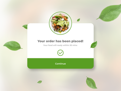 day ui 016 visual overlay pop-up delivery app food app challenges 100days daily ui figma vector dailyui illustration sketch design app web ux ui