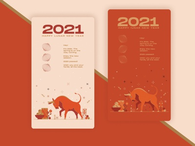 loading page lucky 2021 lunar new year photoshop adobe vector illustration app dailyui design ux web ui