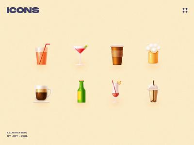 Enjoy summer vector icons ux sketch app ui web illustration design