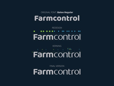 Farmcontrol rebranding: from original font to final version