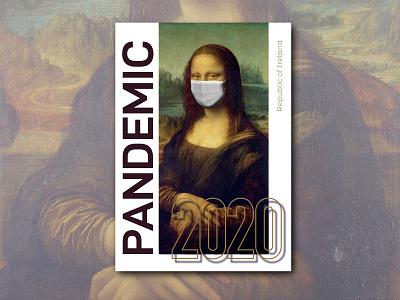Pandemic typography art creativity poster design typography digital graphics graphic design