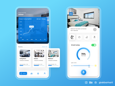 Smart Home App Concept app inpiration mobile design design mobile ui app design mobile app uiux uxdesign uidesign
