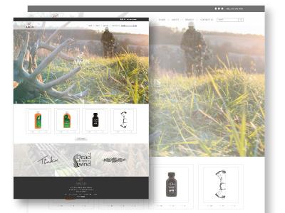 Arcus Redesign wip dreamweaver wordpress html illustrator hunting arcus re-design web