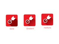 Solid, Gradient, Halftone