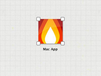 Mac App Icon icon mac app fire