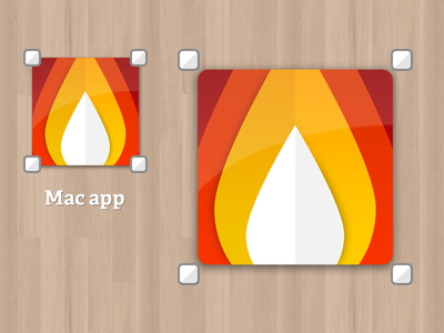 Icon update Mac app mac app icon fire flame