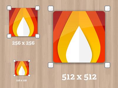 Mac app icon mac app icon fire flame