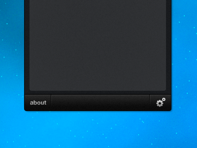 Working on a menubar app [2/2] menubar button window black noise footer settings