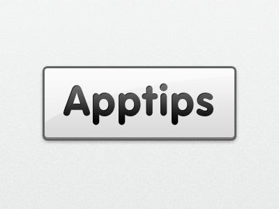 Apptips new logo grey glow logo app button black shadow