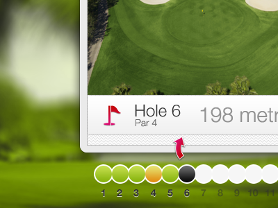 Golf Course Overview golf green interface app purple course arrow