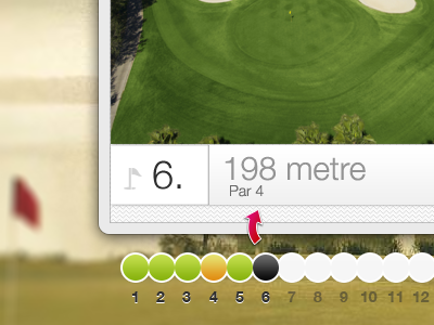 Golf Course Overview - v2 golf green interface app purple course arrow