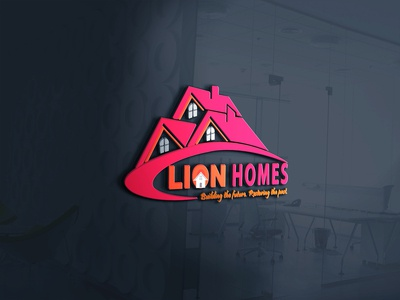 Lion Homes real estate logo