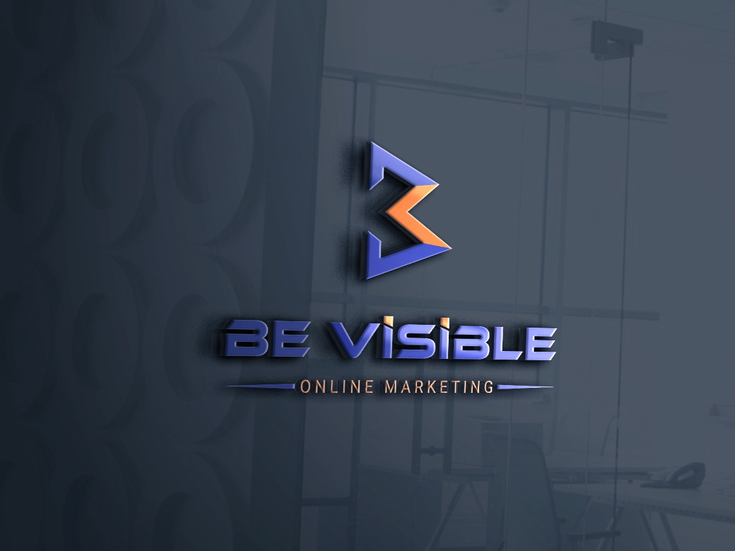 Be visible Online marketing logo branding design logo design unique logo abstract typography creative logo marketing logo