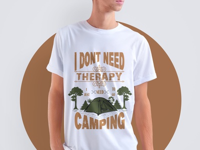 enjoy your camping with an amazing t-shirt design tee fashion camping tshirt camping outdoor tshirt outdoor design illustration graphic design cloth adobe typography t-shirt tshirt