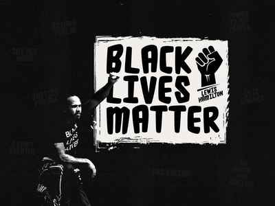 Black Lives Matter - Lewis Hamilton black lives matter no room for racism end racism formula 1 wallpaper fashion paper branding illustration photoshop clean minimal design f1 blm f1 lewis hamilton blm