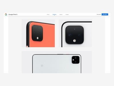 Google Pixel 4 Website Screenshot (2/4)
