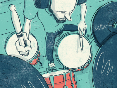 Drummer music drums photoshop illustration