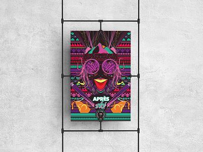 Après Ski - Illustration poster drinks graphic design ski art after effects illustrator stand out design art poster design mountains party sports winter exciting fun colour illustration 2020 ski design poster