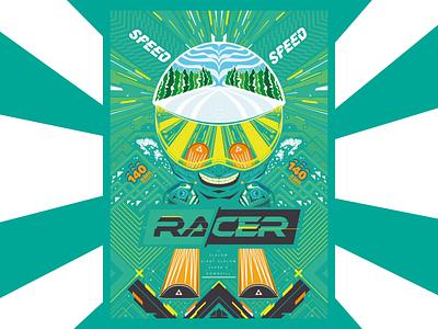 Ski racer - Illustration poster movement speed design motion design after effects illustrator dangerous exciting sports art poster design race fun colour graphic design poster winter ski 2020 illustration